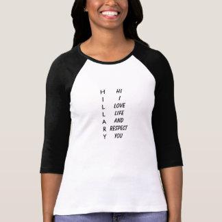 T-shirt Respect inspiré d'amour nommé de signification de