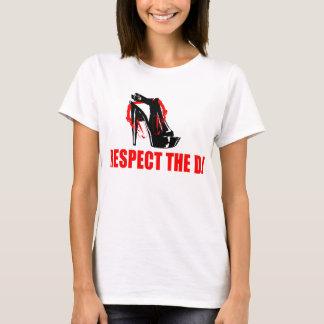 T-shirt Respectez le DJs femelle