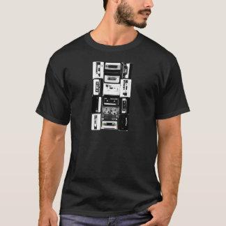 T-shirt Rétro b&w de groupe de cassette audio