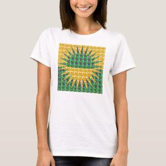 T-shirt Rétro conception de Starburst de regard pour