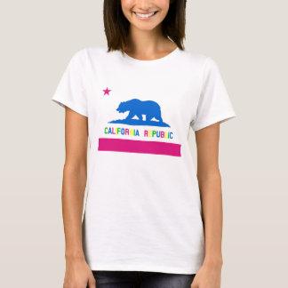 T-shirt Rétro drapeau de République de la Californie du