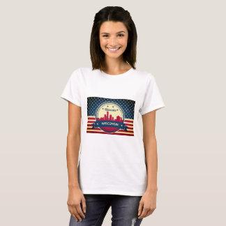 T-shirt Rétro horizon de Milwaukee le Wisconsin