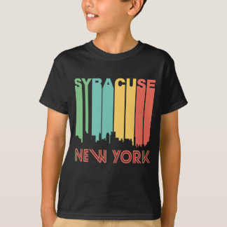 T-shirt Rétro horizon de Syracuse New York de style des
