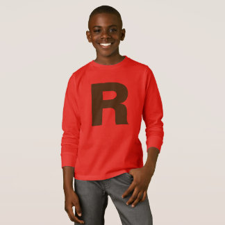 T-shirt RÉTRO MONOGRAMME d'AMUSEMENT par Slipperywindow