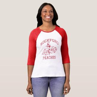 T-shirt Rétros 1946 pro pêches de Rockford du base-ball