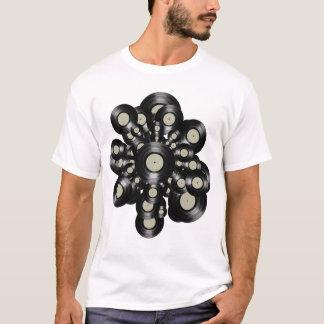 T-shirt rétros LP-disques de vinyle