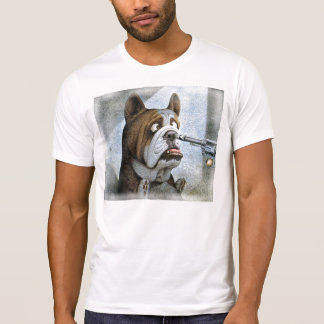 T-shirt Revolver dans un nez à un bouledogue
