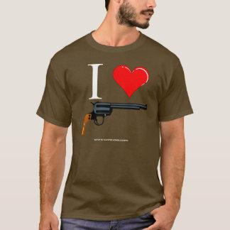 T-shirt Revolvers d'amour de GunLink I (coeur)