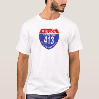 T-shirt Rincon-route-à-bonheur - customisé