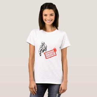 T-shirt Risque de obstruction (la chemise des femmes)