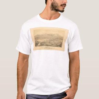 T-shirt Rive, carte panoramique 1877 (1404C) de CA