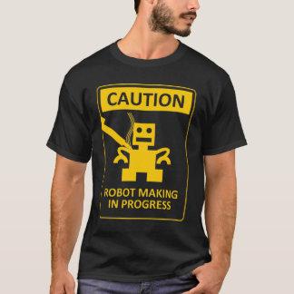 T-shirt Robot de PRÉCAUTION faisant la pièce en t