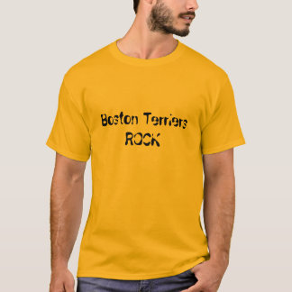 T-shirt Roche de terriers de Boston