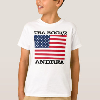 T-shirt Roches de drapeau des Etats-Unis