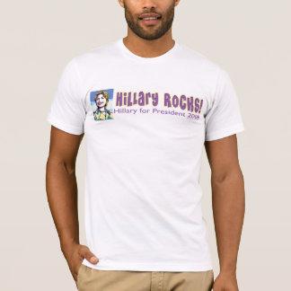 T-shirt Roches de Hillary ! Chemise de Hillary Clinton