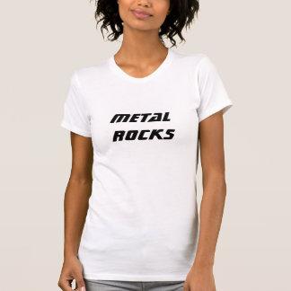 T-shirt Roches en métal