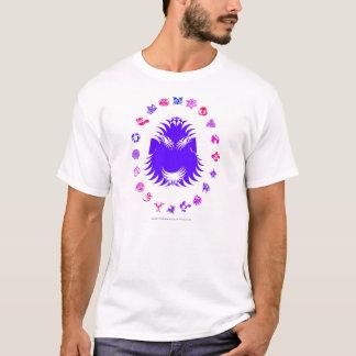 T-shirt Roi barbu - pourpre