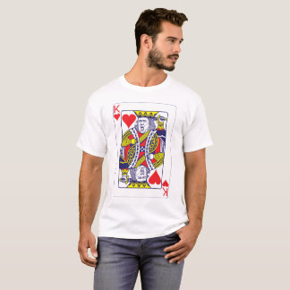 T-shirt Roi d'atout de carte de coeur