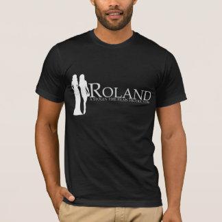 T-shirt ROLAND : Silhouette de Manya et de Nadiya (noir)
