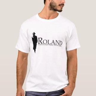 T-shirt ROLAND : Silhouette de Roland (blanche)