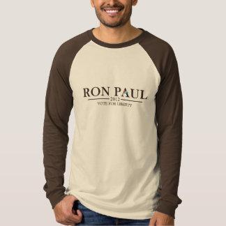 T-shirt Ron Paul 2012 - Ajoutez votre propre texte