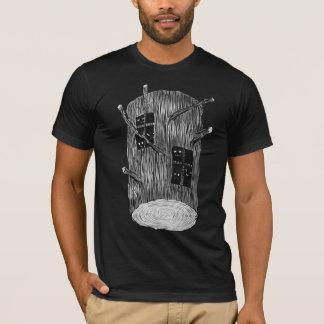 T-shirt Rondin d'arbre avec les créatures mystérieuses de