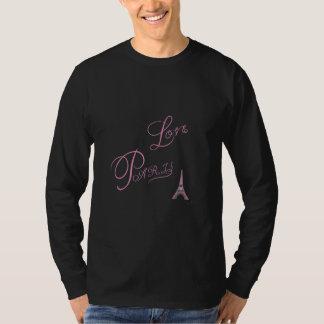 T-shirt Rose-Amour-Paris-Eiffel-Tour-Unique