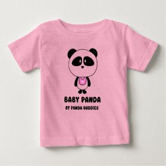 T-shirt rose d'amis de panda de bébé