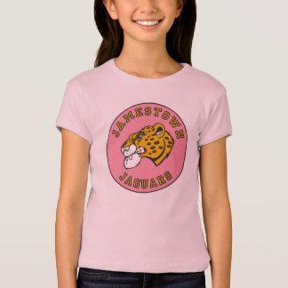 T-shirt rose de logo de jaguars de Jamestown