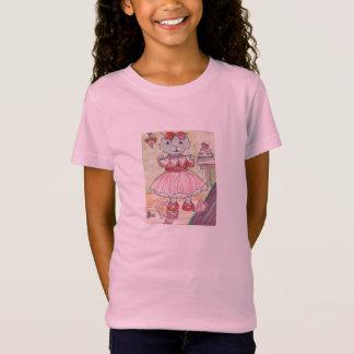 T-shirt rose de minou de valentine