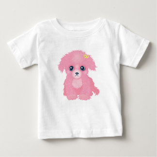 T-shirt rose de nourrisson de chiot
