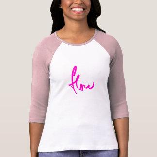 T-shirt rose d'écoulement