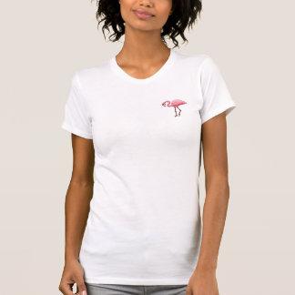 T-shirt rose d'oiseau d'amusement de vacances de
