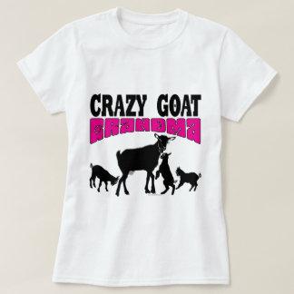 T-shirt Rose fou GYG de grand-maman de chèvre de la CHÈVRE