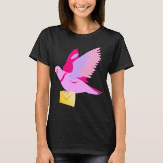 T-shirt rose mignon de pigeon voyageur de bande