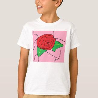 T-shirt Rose T blanc (Copyright) souillé en verre