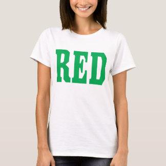 T-shirt rouge de conception