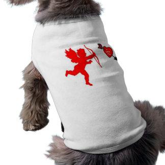 T-shirt Rouge de cupidon et de coeur d'habillement de