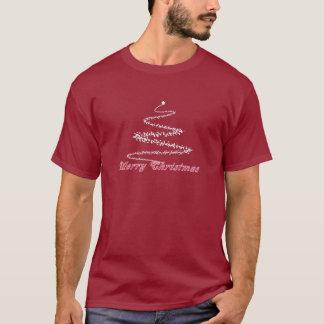 T-shirt rouge de rouge foncé de Joyeux Noël