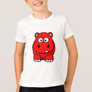 T-shirt Rouge d'hippopotame