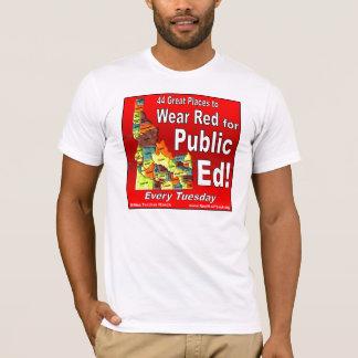 T-shirt Rouge d'usage pour Ed public (Idaho)