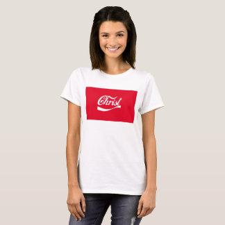 T-shirt Rouge et blanc religieux chrétiens de chemise du
