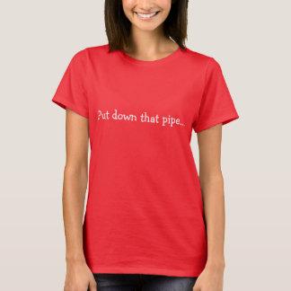 T-shirt rouge-foncé