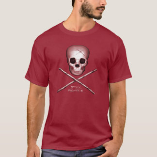 T-shirt Rouge foncé de combattant de bâton