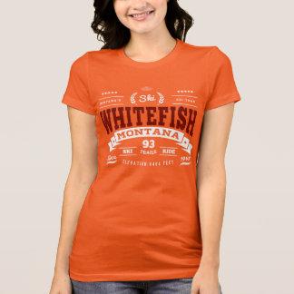 T-shirt Rouge foncé de cru de poisson à chair blanche