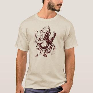T-shirt rouge foncé de ganesh