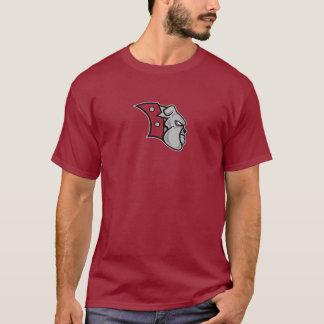 T-shirt Rouge foncé de logo de bouledogue de Bednarcik