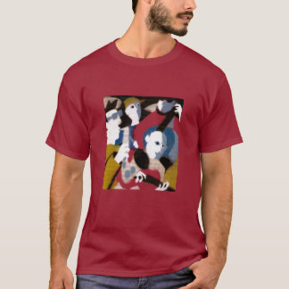 T-shirt rouge foncé de quartet de jazz