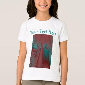 T-shirt Rouge foncé, Teal et conception d'abrégé sur