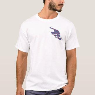 T-shirt Rouge sur bleu-foncé - surfer/Shortboarder